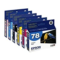 Set Of 6 Epson 78 Inkjet Cartridges
