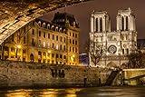 Notre Dame de Paris Front View - Art Print Poster,Wall Decor,Home Decor(42x28 inches)