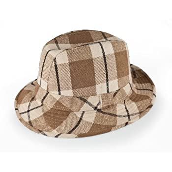 Hip Fedora hat in brown size large