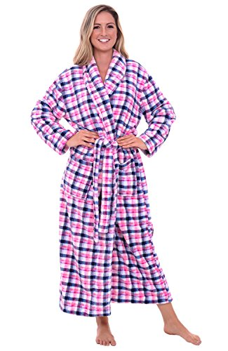 Del Rossa Women's Fleece Robe, Long Bathrobe