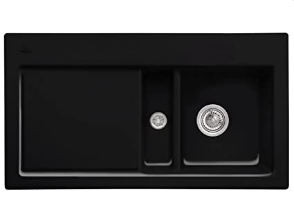 Villeroy Boch Subway 50 &Chromit Black Ceramic Sinks Inset Mounting Kuchenspule