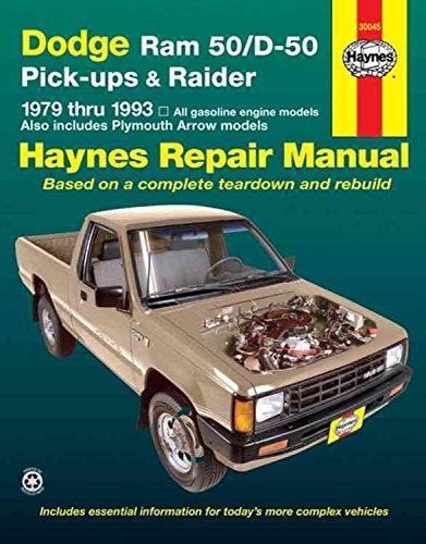 dodge-ram-50-d-50-pick-ups-and-raider-1979-1993-automotive-repair-manual-by-robert-maddox-published-