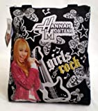 Hannah Montana Tote Bag - Officially Licensed Girls Rock Black & Silver Shoulder Bag; Great Gift Idea