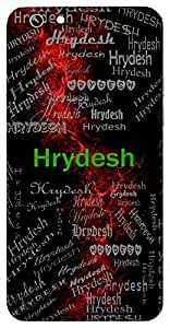 Hrydesh (Hindu Boy) Name & Sign Printed All over customize & Personalized!! Protective back cover for your Smart Phone : Apple iPhone 6