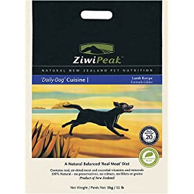 ZiwiPeak 'Daily-Dog' Cuisine; Air-Dried New Zealand Dog Food; Lamb; 11lb bag