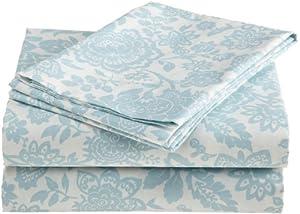 Laura Ashley Prescot 100-Percent Cotton Sheet Set, Twin