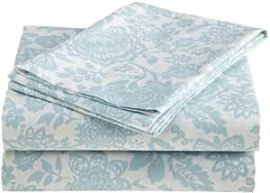 Laura Ashley Prescot 100-Percent Cotton Sheet Set, Queen