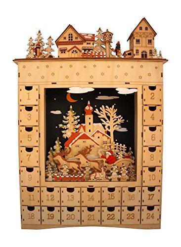 One Hundred 80 Degrees Bavarian Scene Lighted Advent Calendar