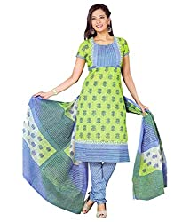 Cotton Printed Casual Wear Women Dress Material