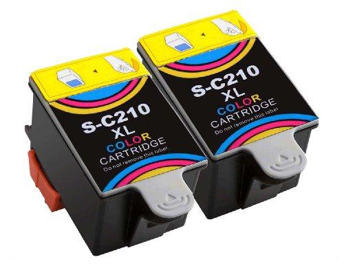 Druckerpatronen für Samsung CJX-1000 CJX-1050W CJX-2000FW Patronen kompatibel zu INK-C 210 INK-C210 (2 Stück)