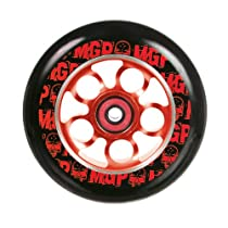 MGP 110-mm Skulls Aero Scooter Wheel-Black PU with Red Core