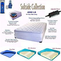 Hot Sale Eastern King 4000LS Softside Pillow Top Complete Waterbed with Mattress, Foundation, Frame, Heating System & Electric Pump