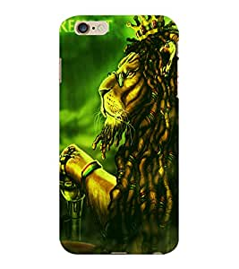 ColourCraft The Lion Look Design Back Case Cover for APPLE IPHONE 6S PLUS