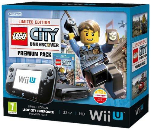Nintendo Wii U Premium Pack + Lego City schwarz