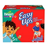 Pampers Easy Ups Trainers for Boys Size 5 66 Ct