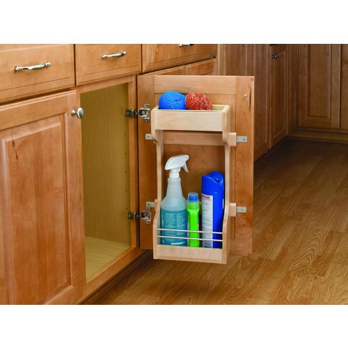 Rev-A-Shelf 4SBSU-18 4SBSU Series Sink Base Door Storage 2 Shelf Organizer, Natural Wood