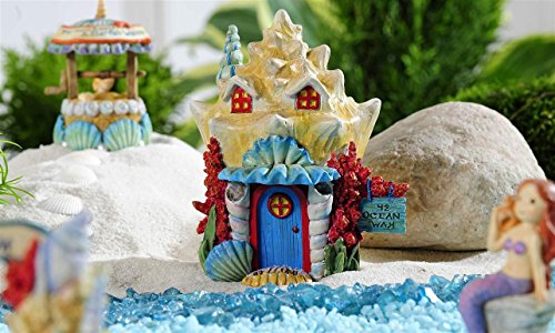 Giftcraft Beach Fairy Garden Seashell House Figurine from Under the Sea Collection