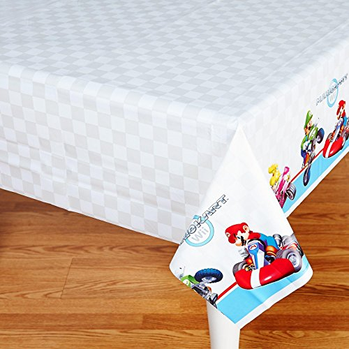 Super Mario Brothers 'Mario Kart Wii' Plastic Table Cover (1ct)