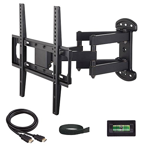 Mounting Dream MD2379 TV Wall Mount Bracket with Full Motion Dual Articulating Arm Tilt, Swivel, and Rotation Adjustment (Black, 17.1 x 16.5-Inch)