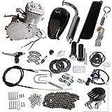 Iglobalbuy 80CC Petrol Gas Motor Bicycle Engine Complete Kit Motorized Bike 2-Stroke