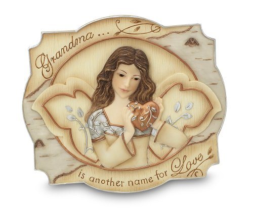 Elements Grandma Plaque by Pavilion, 3-1/2 by 4-Inch, Inscription Grandma is AnoTher Name for Love, Includes Easel and Hanger