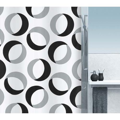 spirella-1015184-rings-cortina-de-ducha-de-tela-180-x-200-cm-color-blanco-con-circulos-negros-y-gris