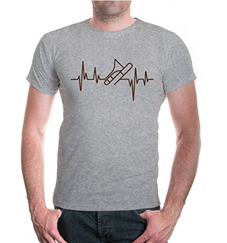 T-Shirt-Musikfrequenz-Posaune