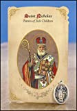 Saint Nicholas Patron of Sick Children Cardstock Holy Prayer Card w/ 1