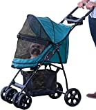 Pet Gear No-Zip Happy Trails Lite Pet Stroller, with Zipperless Entry, Pine Green