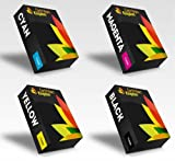 Set of 4 Cartridges to Replace Xerox 6000/6010/6015 Laser Toner (Black, Cyan, Magenta, Yellow)
