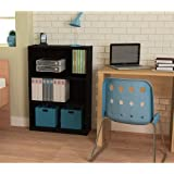 Ameriwood 3-shelf Bookcase, Multiple Finishes. Ideal for Dorm Room, Home Office, Living Room or Any Room. (Black)