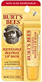 Burt's Bees Lip Balm, Beeswax, Squeezable, 0.35 Ounce Tube