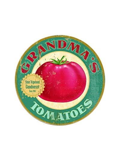 Grandma's Tomatoes Wood Wall Décor, Blue/Red