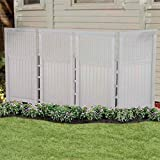 Suncast FSW4423SW Yard Garden Decorative Outdoor Screen Enclosure Gate- White