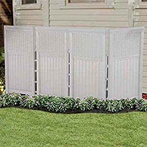 Suncast FSW4423SW Yard Garden Decorative Outdoor Screen Enclosure Gate
