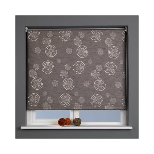 Sunlover Patterned Thermal Blackout Roller Blind, Cosmic Graphite, W90cm