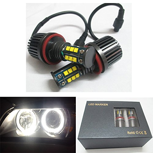 CREE LED Light 120W H8 HID Xenon 6000k Error Free Angel Eyes Halo Ring for BMW E60 E70 E87 E90 E92 E93 X5 X6 Z4 M3 (Bmw X5 E70 Radio compare prices)