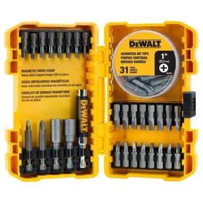 dewalt 60 pc screwdriving set with case yellow black hardware tool acce. Black Bedroom Furniture Sets. Home Design Ideas