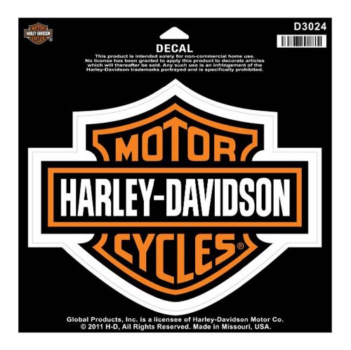 Harley-Davidson® Bar & Shield Large Decal. 7 5/8