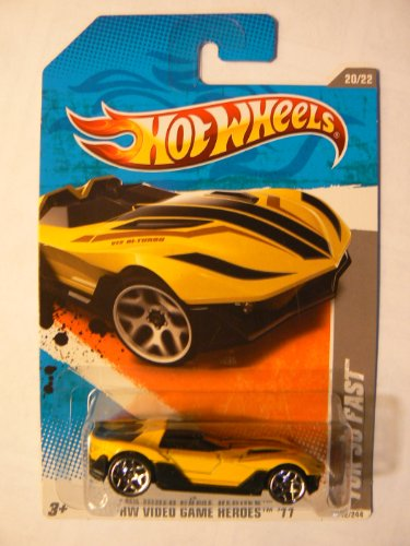 Hot Wheels Yellow HW Video Game Heroes 11 (20/22) Yur so Fast 242/244 - 1