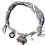 daniela sigurd jewelry ( ダニエラ シグルド ジュエリー )  : 【ロンドンのおしゃれを先取り! Elephant, cut-out star, crystal  カット スター エレファント リバティプリント ^^/】 像 / 星  リバティ  プリント : ブレスレット