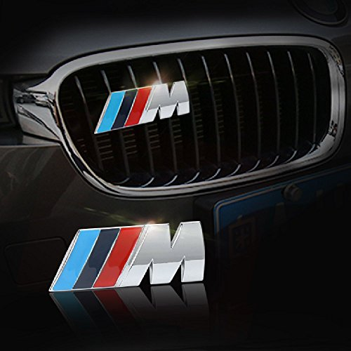 COGEEK 3D Metal Sport ///M Front Hood Grill Grille Badge Emblem Stickers Screws Car Styling Accessories for BMW M3 M5 X1 X5 X6 E39 E60 (M5 Grill Emblem compare prices)