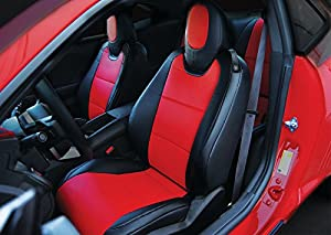 Amazon Com Chevy Camaro Black Red Artificial Leather