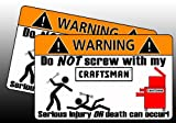 Craftsman Wrench Tool Red Toolbox Warning Sticker Box