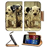 Dog Puppy Spot Dalmatian Pets Animals Motorola Moto X Flip Case Stand Magnetic Cover Open Ports Customized Made to Order Support Ready Premium Deluxe Pu Leather 5 7/16 Inch (138mm) X 3 1/16 Inch (78mm) X 9/16 Inch (14mm) Liil Mobility cover Professional Mo