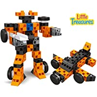 Uniquely Designed Diy Brick Clicks Building Block Set That Comes With 72pcs And Can Build Into Robots Or Anything...