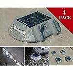 Solar Deck Lights By NuHome 4 Pack Die Cast Aluminum LED, Dock, Deck, Pathway, Driveway Marker Lights 6 LEDs