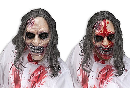Bleeding Zombie Mask with hair