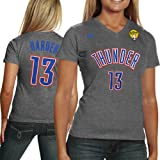 NBA adidas James Harden Oklahoma City Thunder Ladies 2012 NBA Finals Replica T-Shirt - Ash (Small) Amazon.com