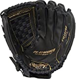 "Rawlings  Playmaker Series Glove, Black, 12"", Worn on Left Hand"